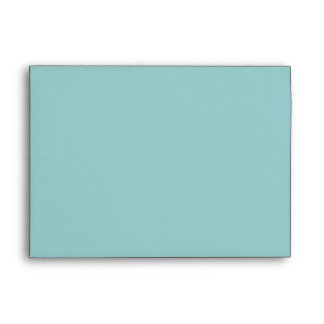 Teal Blue w Polkadot Inside Invitation Envelope