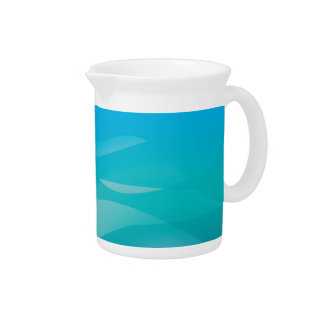 Teal Blue Water Abstract Template Drink Pitchers