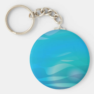 Teal Blue Water Abstract Template Key Chains