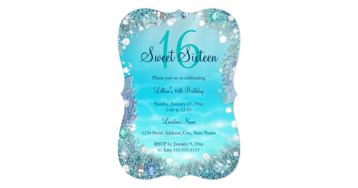 Ocean Birthday Party Invitations The Best Invitation In 2017 – Ocean Party Invitations