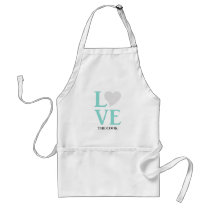 Teal Blue Wedding Love The Cook Party Apron