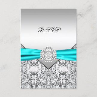 Teal Blue Wedding RSVP