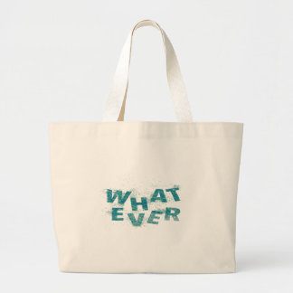 Teal Blue Whatever PNG Large Tote Bag