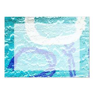teal blue white abstract wall image grafitti card