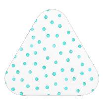 Teal Blue White Confetti Dots Pattern Speaker