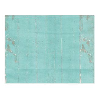teal blue wood grungy postcard