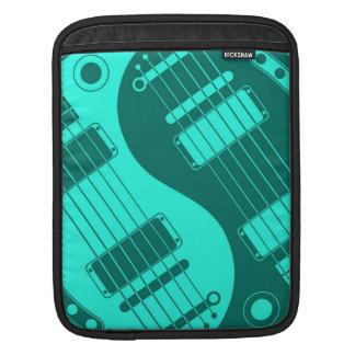 Teal Blue Yin Yang Guitars iPad Sleeve
