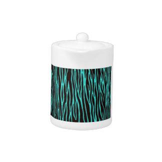 Teal Blue Zebra Stripes