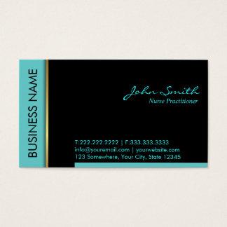 Teal Border Nurse Practitioner Business Card