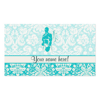 Teal Boxing Double-Sided Standard Business Cards (Pack Of 100)