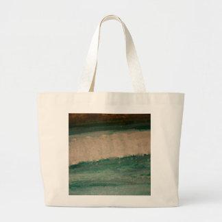 Teal Breaker Wave Jumbo Tote Bag