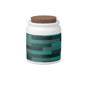 Teal Bricks Candy Dishes