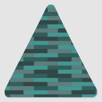 Teal Bricks Triangle Sticker