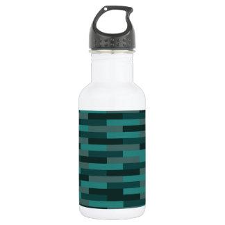Teal Bricks Water Bottle