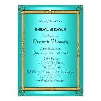 Teal Bridal Shower Invitation