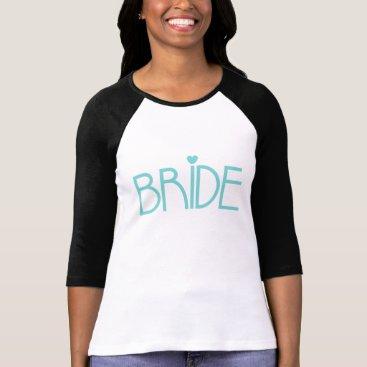 heartlocked Teal Bride T-Shirt