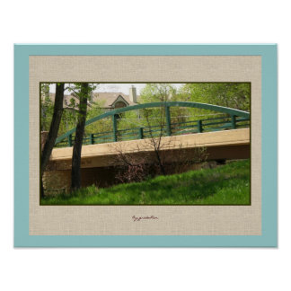 Teal Bridge at Home Poster by gretchen