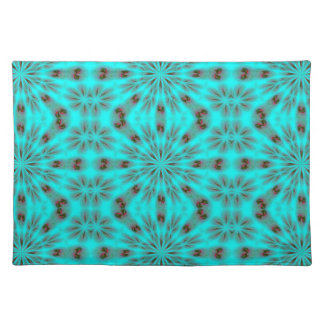 Teal Bright Burst Cloth Placemat