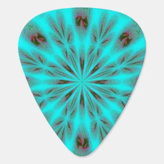 Teal Bright Burst Guitar Pick