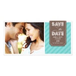 TEAL & BROWN BANNER | SAVE THE DATE ANNOUNCEMENT PHOTO CARD TEMPLATE