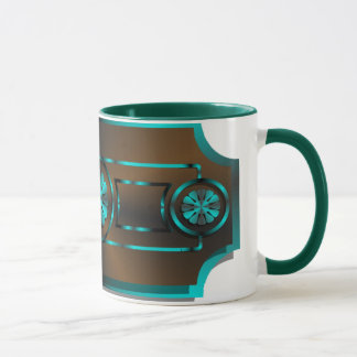 Teal & brown mug
