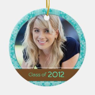 Teal & Brown Photo Graduation 2012 Keepsake Ceramic Ornament