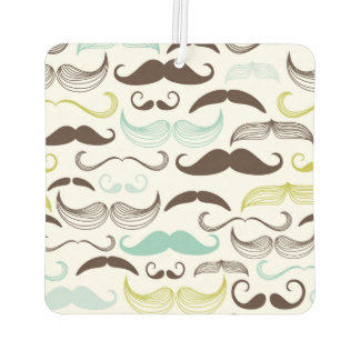 Teal, Brown & Yellow Mustaches Air Freshener