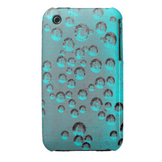 Teal Bubbles Case-Mate iPhone 3 Cases
