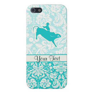 Teal Bull Riding Cover For iPhone SE/5/5s