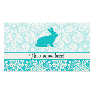 Teal Bunny Double-Sided Standard Business Cards (Pack Of 100)