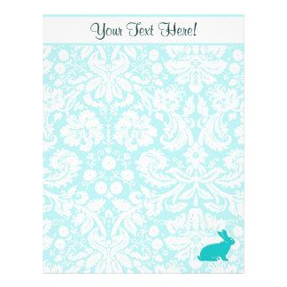 Teal Bunny Letterhead
