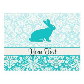 Teal Bunny Postcard