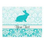 Teal Bunny Postcards