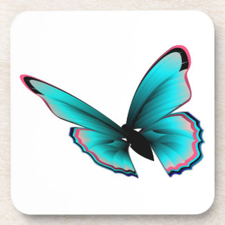 Teal Butterfly Drink Coaster