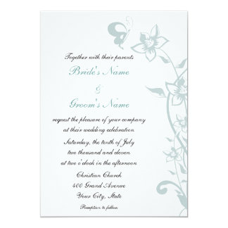 Teal Butterfly Invitation