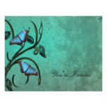 Teal Butterfly Pair Invitation