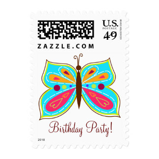 Teal Butterfly Postage