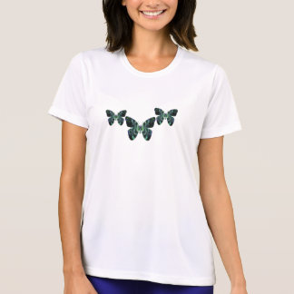 Teal Butterfly Womens T Shirt