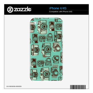 Teal Camera Skin Decals For iPhone 4S