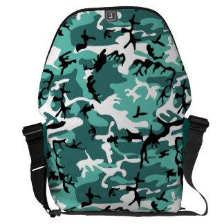 Teal Camo Messenger Bag