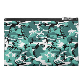 Teal Camo Travel Accessories Bag