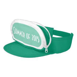 Teal Cap-Sac fanny pack for head, Summer of 2015 Visor
