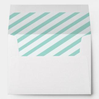 Teal Carnival Stripes Lined Envelopes