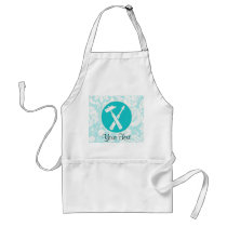 Teal Carpenter Tools Adult Apron