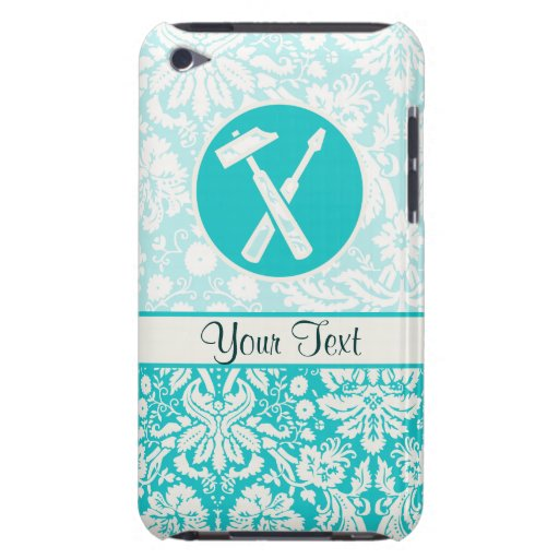 Teal Carpenter Tools iPod Touch Case