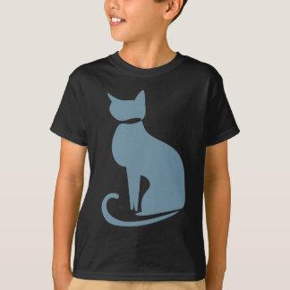 Teal Cat Kids' T-shirt