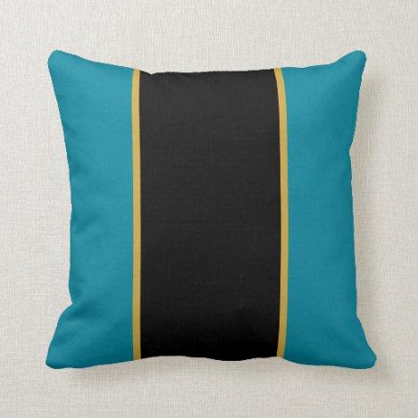 Teal Cats Throw Pillow