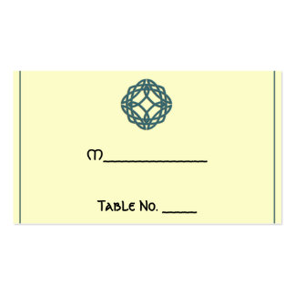 Teal Celtic Eternity Knot Wedding Place Cards Business Card Templates