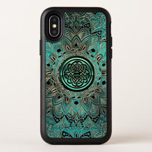 Teal Celtic Knot Mandala Otterbox iPhone Case Phone Case