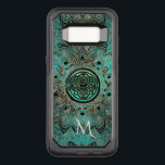 "Teal Celtic Knot Mandala Otterbox OtterBox Commuter Samsung Galaxy S8 Case<br><div class=""desc"">Celtic Dara Knot Mandala Otterbox Case. Sleek, elegant, gold and black mandala on a metallic teal blue green. In the center is a matching Celtic Dara shield knot in light teal, black and gold. Celtic knots are an ancient Celtic traditional art form characterized by having no beginning and no end....</div>"